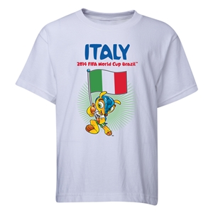 Italy 2014 FIFA World Cup Brazil(TM) Youth Mascot Flag T-Shirt (White)