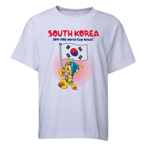 South Korea 2014 FIFA World Cup Brazil(TM) Youth Mascot Flag T-Shirt (White)