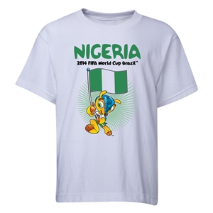 Nigeria 2014 FIFA World Cup Brazil(TM) Youth Mascot Flag T-Shirt (White)