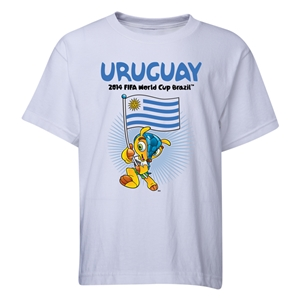 Uruguay 2014 FIFA World Cup Brazil(TM) Youth Mascot Flag T-Shirt (White)