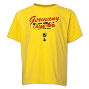 Germany 2014 FIFA World Cup Brazil(TM) Youth Champions Script T-Shirt (Yellow)