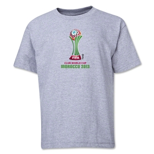 FIFA Club World Cup Morocco 2013 Youth Official Emblem T-Shirt (Grey)
