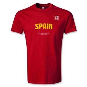 FIFA U-20 World Cup Turkey Youth Spain T-Shirt (Red)