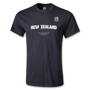 FIFA Men's U20 World Cup 2013 Youth New Zealand T-Shirt (Black)