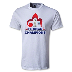 France FIFA U-20 World Cup 2013 Winners Youth T-Shirt (White)