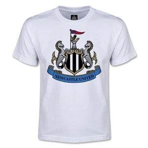 Newcastle United Crest Youth T-Shirt (White)