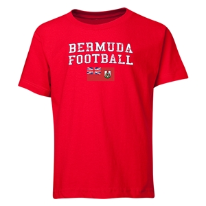 Bermuda Youth Football T-Shirt (Red)