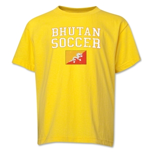 Bhutan Youth Soccer T-Shirt (Yellow)