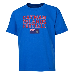 Cayman Islands Youth Football T-Shirt (Royal)