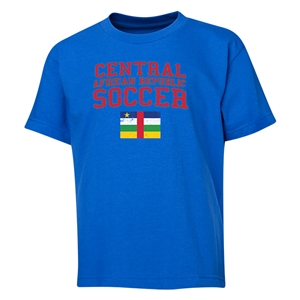 Central African Republic Youth Soccer T-Shirt (Royal)