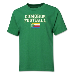 Comoros Youth Football T-Shirt (Green)