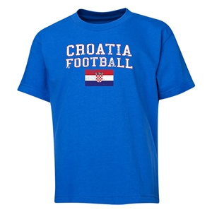 Croatia Youth Football T-Shirt (Royal)