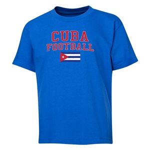 Cuba Youth Football T-Shirt (Royal)