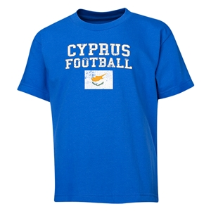 Cyprus Youth Football T-Shirt (Royal)