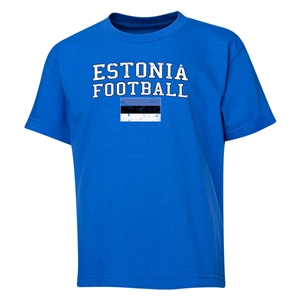 Estonia Youth Football T-Shirt (Royal)
