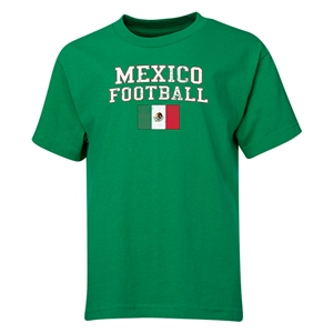 Mexico Youth Football T-Shirt (Green)