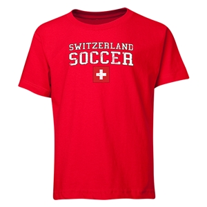 Switzerland Youth Soccer T-Shirt (Red)