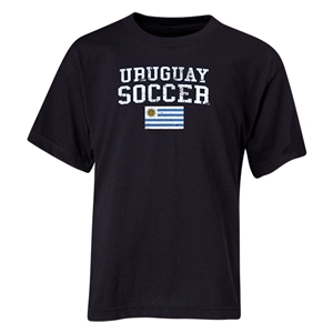 Uruguay Youth Soccer T-Shirt (Black)