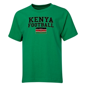 Kenya Youth Football T-Shirt (Green)