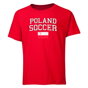 Poland Youth Soccer T-Shirt (Red)