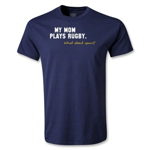 My Mom Plays Rugby Youth T-Shirt (Navy)