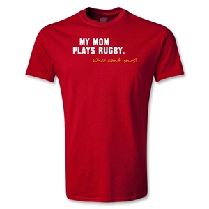 My Mom Plays Rugby Youth T-Shirt (Red)
