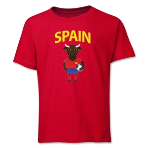 Spain Animal Mascot Youth T-Shirt (Red)
