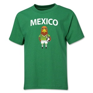 Mexico Animal Mascot Youth T-Shirt (Green)