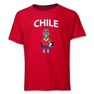 Chile Animal Mascot Youth T-Shirt (Red)