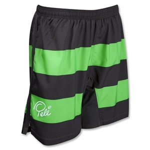 Pele Sports Contrast Stripe GD Soccer Shorts (Green)
