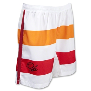 Pele Sports Contrast Stripe GD Soccer Shorts (White)