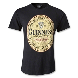 Guinness Distressed Label T-Shirt (Black)