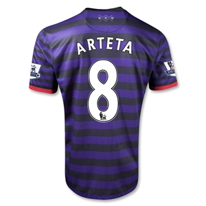 Arsenal 12/13 ARTETA Away Soccer Jersey