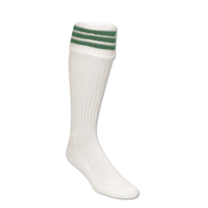 Three-Stripe Socks (White/Green)