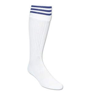 Three-Stripe Socks (White/Royal)