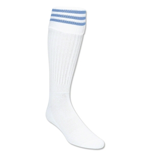 Three-Stripe Socks (White/Sky)