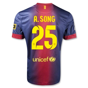 Barcelona 12/13 A.SONG Home Soccer Jersey