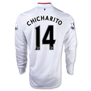 Manchester United 12/13 CHICHARITO LS Away Soccer Jersey