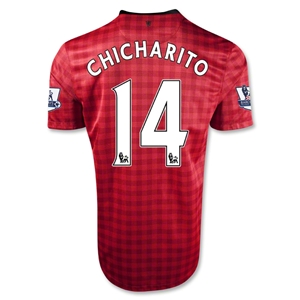 Manchester United 12/13 CHICHARITO Home Soccer Jersey