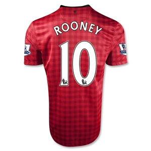 Manchester United 12/13 ROONEY 10 Home Soccer Jersey