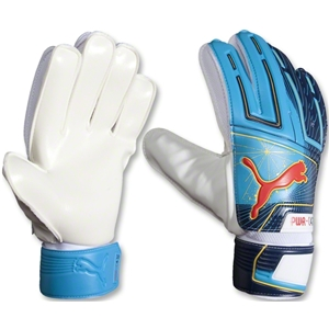 PUMA Powercat 4.12 Grip Glove (Fluro Blue)