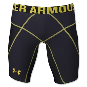 Under Armour HeatGear Core Compression Short Lite (Blk/Yellow)