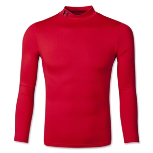 Under Armour Youth EVO Coldgear Fitted Mock (Red)
