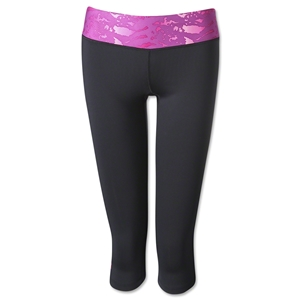 Under Armour Women's HeatGear Sport Capri (Black/Pink)