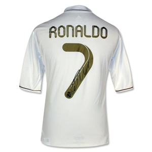 Signed Cristiano Ronaldo Real Madrid 11/12 Home Soccer Jersey