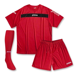 Joma Academy Short Sleeve Soccer Kit (Red/Blk)