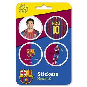 Barcelona 11/12 4 pack Lionel Messi Stickers