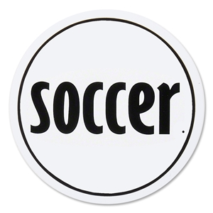 Soccer Round Decal