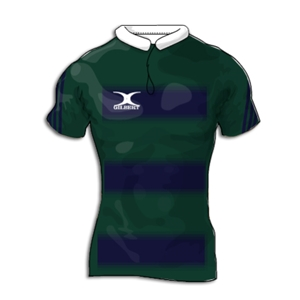 Gilbert Faded Hoops Premier Custom Jersey (Navy/Green- Set of 22)