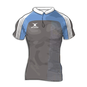 Gilbert Yoked Premier Custom Jersey (Gray/Sky- Set of 22)